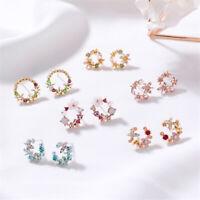 Women Bohemia Crystal Rhinestone Small Earrings Drop Dangle Stud Fashion Jewelry