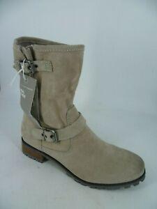 H&M ladies Suede Mid Calf Boots Grey UK 6.5 EU 40 LN095 PP 10