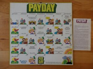Pay Day Game Board & Instructions Only 1975