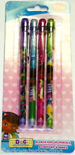 New Disney Junior Doc McStuffins 4 Pack of Pop-Up Pencils