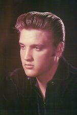 Elvis Presley Posing for Picture Dark Shirt Great Hair Barber Delight - Postcard