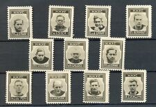NEDERLAND 1937 ca   9 x  FOTO STAMPS H.H.Y.C  VOETBAL  THICK PAPER NO GUM