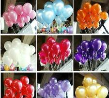 100p 10inch Latex Helium Balloons Wedding Party Pearlised Balloons Decorations