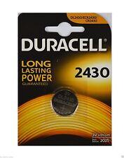 1 x CR2430 Duracell Knopfzellen Lithium Batterien battery DL2430. 3 Volt
