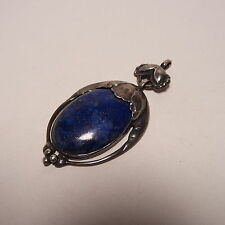 Georg Jensen Lapis Lazuli Pendant #54 Sterling Silver 925 1933-1944 - Very Good