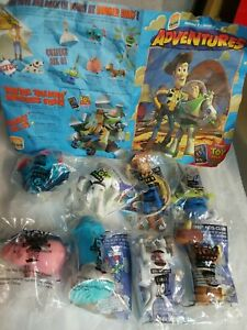 Burger King TOY STORY complete set of 8 in sealed bags w/kids club activity mat!