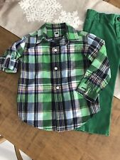 Janie And Jack Roll Cuff Button Down Shirt Baby Toddler Boy Sz 2 2T