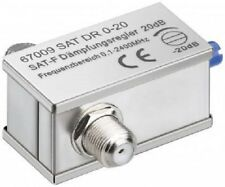 Cable TV Variable 0-20dB Signal Attenuator with F Plug Type Connector Fittings