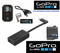 Original GoPro HERO 7 6 5 BLACK PRO 3.5mm MIC ADAPTER + EXTRA BATTERY + REMOTE