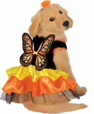 Monarch Butterfly Pet Costume Dog Black Orange Yellow Wings Dress