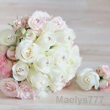 Epingle tête diamant  fleuriste rose bouquet de mariée  décoration mariage 20pcs