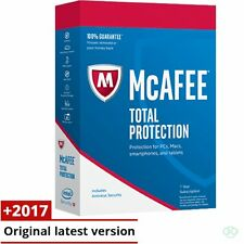 McAfee Total Protection 2017 3 PC's 12 Months License Antivirus 2016 3 user's