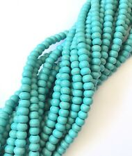 Fine genuine Rondelle Turquoise Gemstone beads Gemstone Beads-Jewelry Supplies