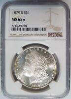 1879 S Silver Morgan Dollar NGC MS 65 Star Nice Mirrors PL Coin