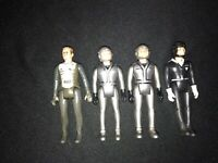 Lot Of 4 1983 Gay Toys Laser Force Silver Pilot Action Figure DC Vintage Space
