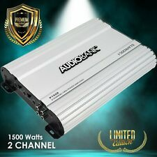 Audiobank 2 Channels 1500 WATTS Bridgedable Car Audio Stereo Amplifier P1502