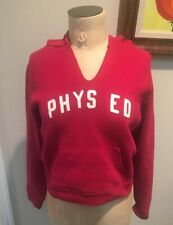 Abercrombie & Fitch Red Hoodie Sweatshirt 'PHYS ED' Women's Size Large