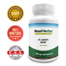Real Herbs St Johns Wort Standardized to 0.3% Hypericin 500mg  - 100 Vegetarian