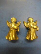 2 Messingfiguren - kleiner Engel - Kerzenhalter