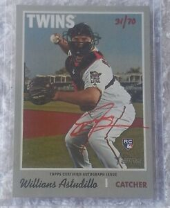 WILLIANS ASTUDILLO 2019 TOPPS HERITAGE HIGH #ROA-WAS RED AUTOGRAPH RC 31/70 SP