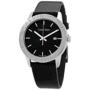 Calvin Klein Steady Quartz Black Dial Men's Watch K7Q211C1