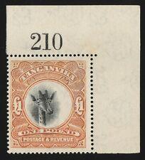 TANGANYIKA 1922 Giraffe £1 Top Value MNH ** with sheet no. wmk Sideways