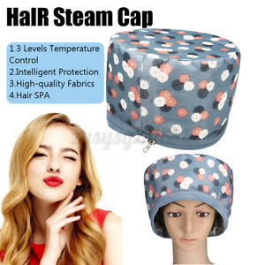 Hair Steamer Cap Heating Cap Thermal Beauty SPA Dryers Electric Treatment Hat UK