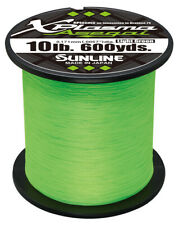Sunline Xplasma Asegai Green Braided Line 600 Yards Braided Bass Fishing Line