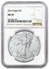 2019 $1 1 oz Silver American Eagle $1 Coin NGC MS70 Mint State 70