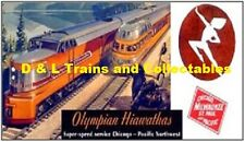 Billboard for Plasticville Holder The Milwaukee Road Olympian Hiawatha