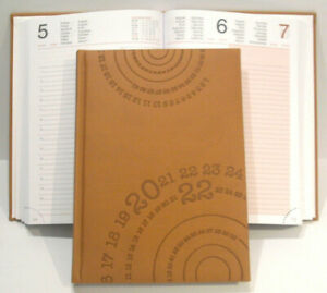 2022 Buchkalender A5 1 Tag = 1 Seite, Rido Idé 70-26026 Mentor, Compass braun