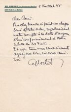 ALFRED CORTOT Pianist autographed letter at the worst moment of his life 1945