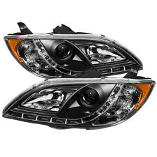 Mazda 3 04-08 4DR Sedan Black Daytime Runninig LED Projector Headlights Lamps