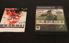 Metal Gear Solid 3 Subsistence Play Station 2 PS2 PAL ESPAÑOL