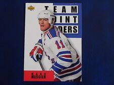 1993-94 Upper Deck UD Series 1 #298 Mark Messier New York Rangers Team Leaders