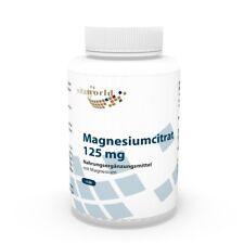 Citrato de magnesio 125mg 120 Cápsulas Vita World Producción farmacia Alemania