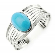 Southwestern Sterling Silver Cuff Bracelet with Turquoise