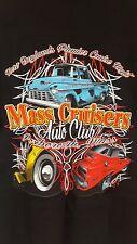 hot rod mass cruisers car club t-shirt black medium