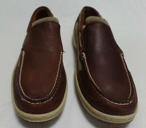 NWT NEW SPERRY TOP-SIDER BILLFISH COFFEE COLOR SLIP-ON LEATHER BOAT SHOES 10 M