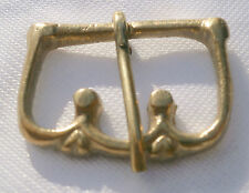 Pack of 2 Medieval decorative brass buckle, reenactment LARP living history 08