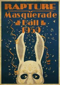 Bioshock Rapture Masquerade Ball 1959 Rabbit Printing Wall Decor Poster No Frame