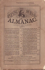 1887 The Evening Journal Almanac Albany New York