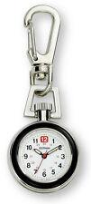 Gotham Unisex Silver-Tone Analog Quartz Keychain Clip Fob Watch # GWC18107-2