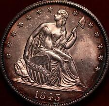 1843 Philadelphia Mint Silver Seated Half Dollar