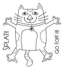 SPLAT CAT - Clear Magic Stamp - Woodware
