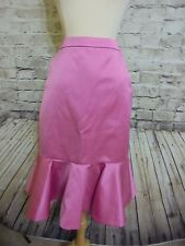 $275 J CREW COLLECTION FLUTED SKIRT IN ITALIAN SATIN NWT 00 #F6987 PINK