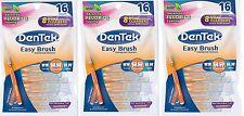 DenTek Easy Brush Cleaners w/ Fluoride Coating 16 Each ( 3 Pack ) PHARMACY FRESH