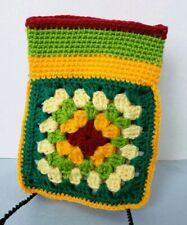Crochet Granny Square belt bag fanny pack bohemian Multi Color belt loop hip bag