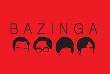 Big Bang Theory BAZINGA shirt Leonard Sheldon Howard Raj TV Sitcom t-shirt
