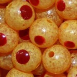 TroutBeads Blood Dot Eggs Trout Beads Fishing Bait Egg Yolk Size 10mm Pkg of 10